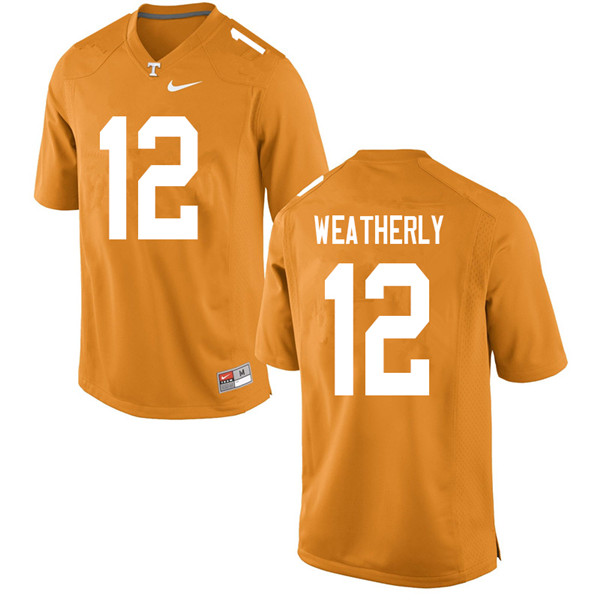 Men #12 Zack Weatherly Tennessee Volunteers College Football Jerseys Sale-Orange